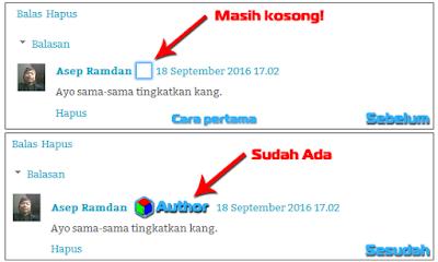 Mengatur Tanda Author pada Template blog