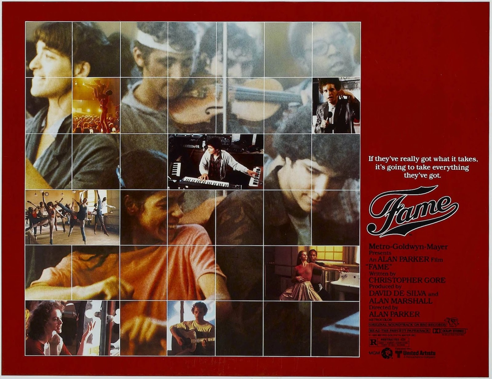 Kids From Fame Media: Fame 1980 Movie Poster From Around ...