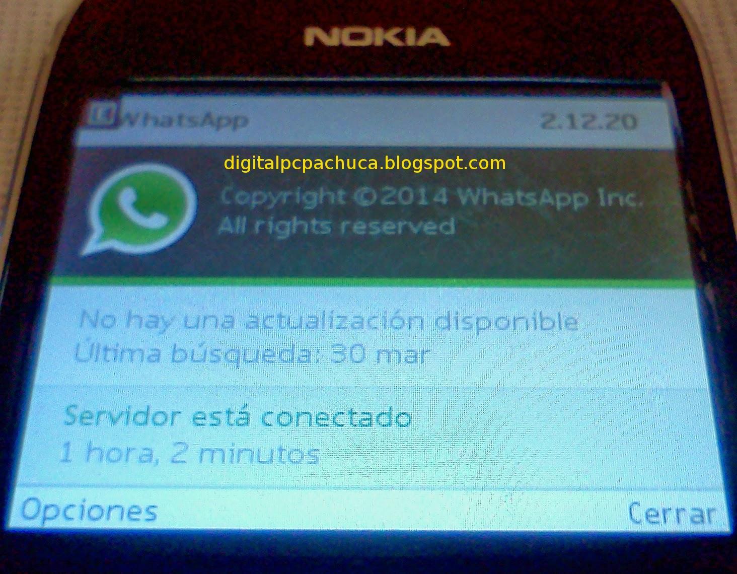 WhatsApp 2.12.20 para Nokia Asha S40