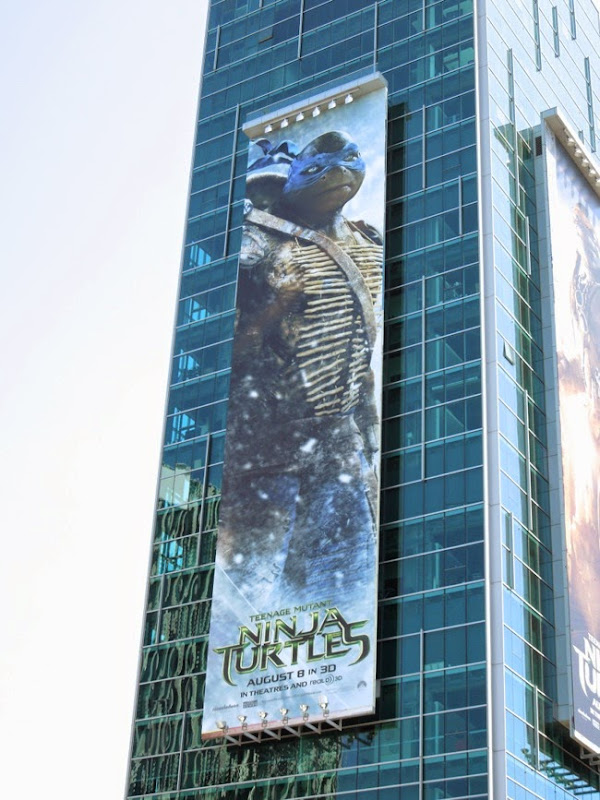 Giant Leonardo Ninja Turtles movie billboard