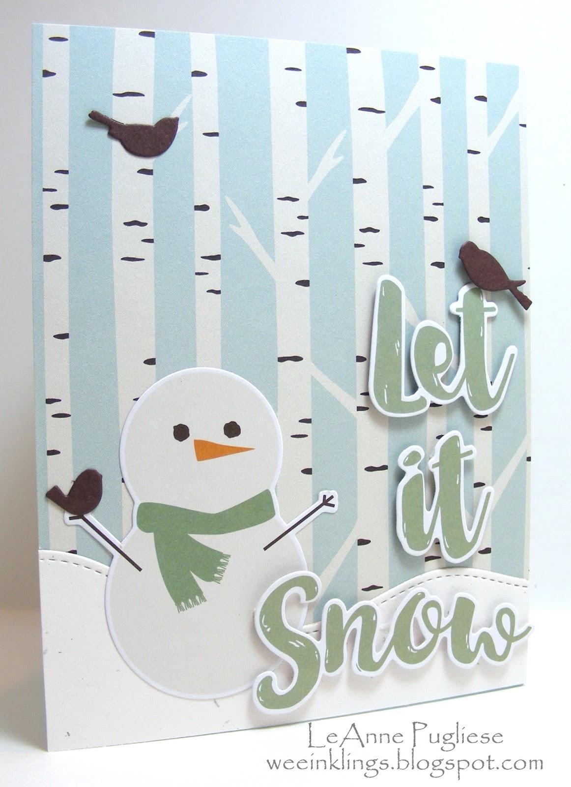 wee inklings: Easy Peasy Let it Snow
