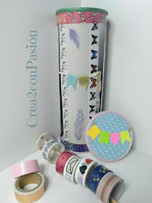 Organizador-cintas-washi-tape-reciclando-un-envase-de-snaks-Crea2-con-Pasión