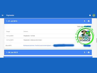 Pembayaran Google Adsense Bulan Juli 2015.