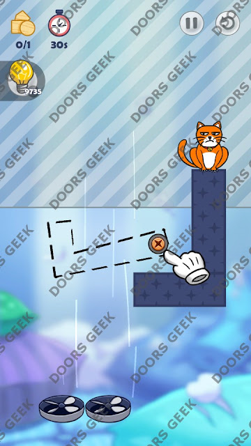 Hello Cats Level 197 Solution, Cheats, Walkthrough 3 Stars for Android and iOS