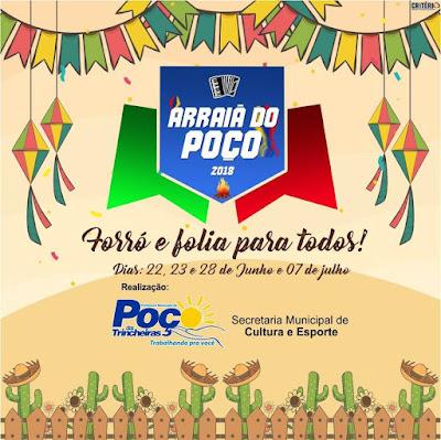 Confira a programação dos festejos juninos de Poço  das Trincheiras
