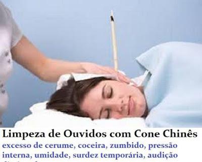 Limpeza de Ouvidos - Terapia dos Cones Chineses ou Hindus - para excesso de cerume, umidade, pressão interna, coceira, surdez, audição baixa, zumbidos, sinusite, rinite, otites e otalgias