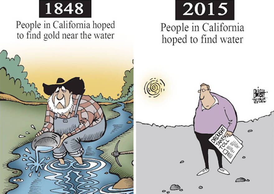 21 Then And Now Illustrations That Show The World Has Changed For The Worse