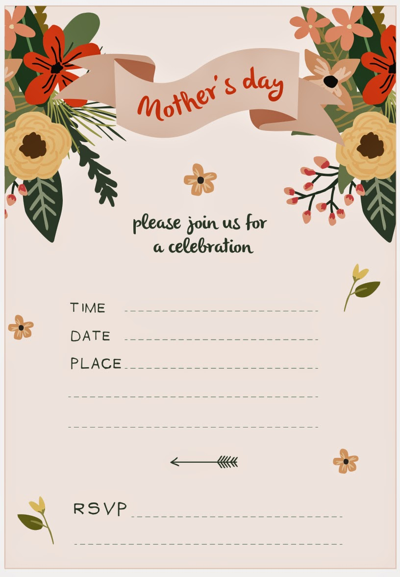 you are in good company good looks mothers day invitation. Black Bedroom Furniture Sets. Home Design Ideas