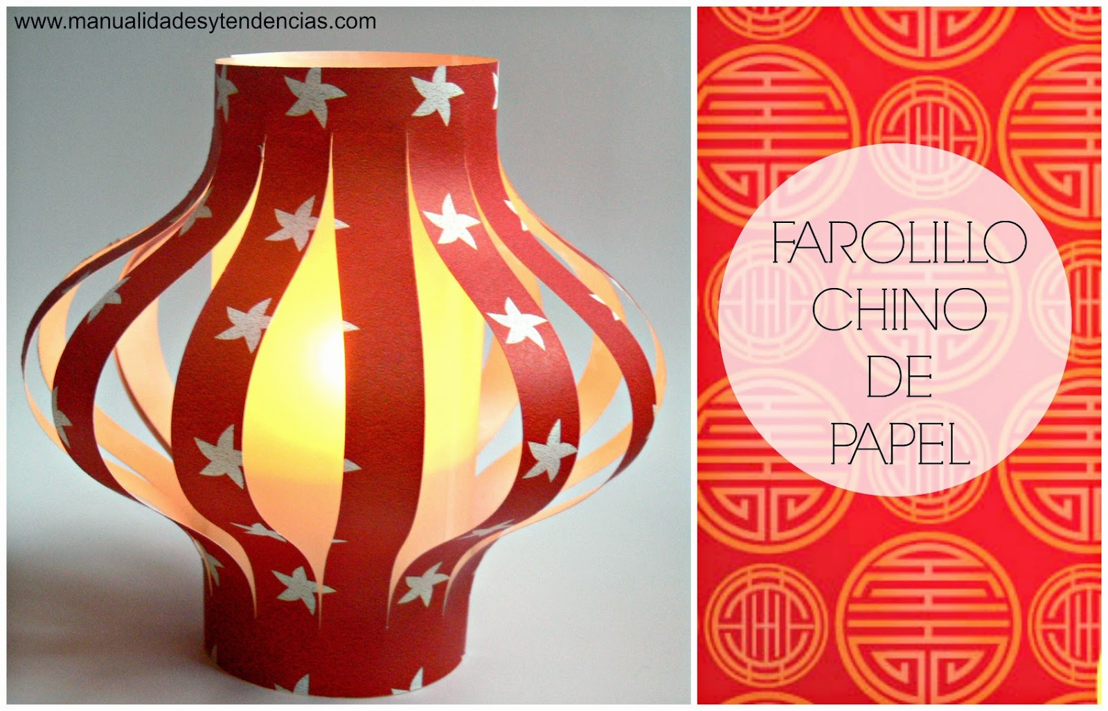 Reciclaje: Farolillo chino de papel