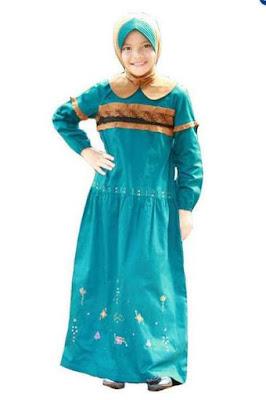 Baju anak perempuan muslim moden model sekarang
