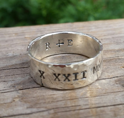 personalized engraved custom handstamped mothers ring
