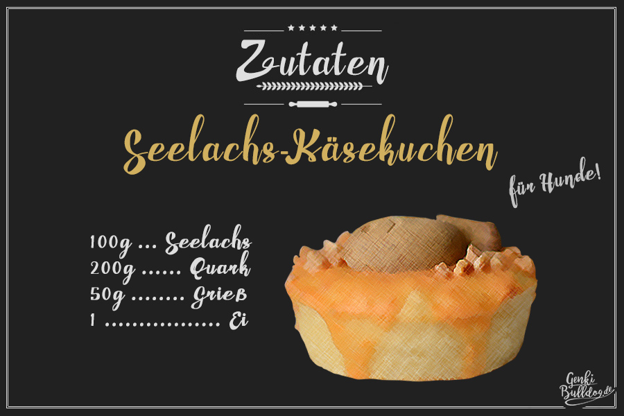 Rezept: Seelachs-Käsekuchen für Hunde Hundekuchen Hundegeburtstagskuchen Geburtstagstorte DIY backen