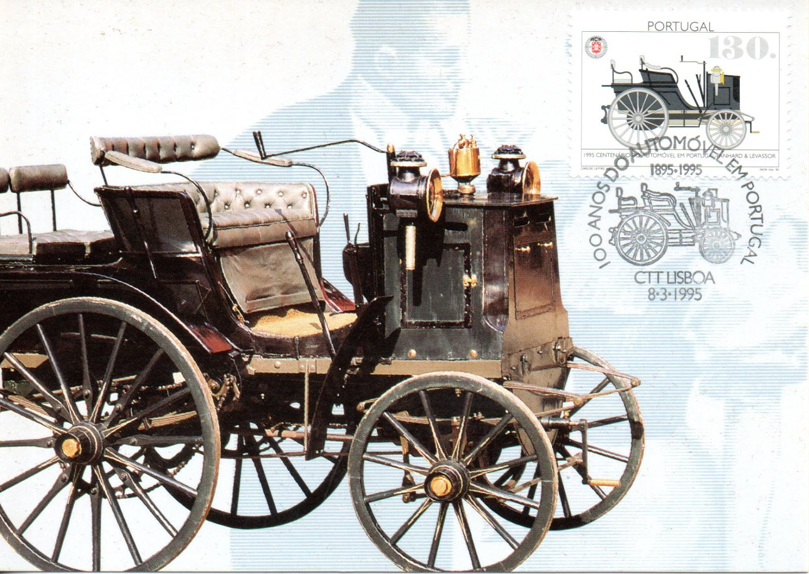 postCar(d)s: Maxicard: First automobile in Portugal: Panhard ...