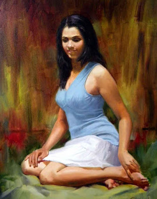 Beautiful Artwork Of Liberal Indian Girl By Famous Artist Vilas Chormale.