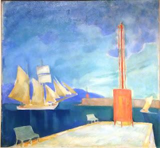 το έργο Λιμάνι της Καλαμάτας του Κωνσταντίνου Παρθένη στην Εθνική Πινακοθήκη