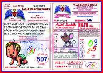 Syair Kode Prediksi Fajar Pakong Pools 06 April 2018