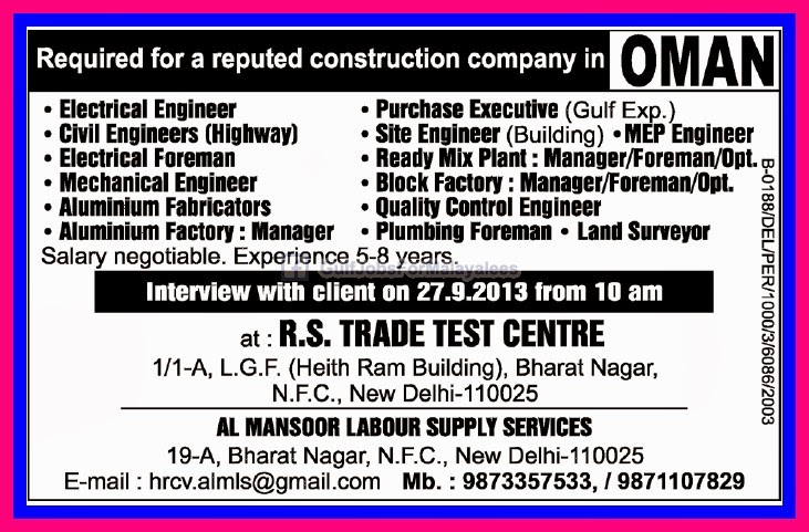 List of construction companies in oman
