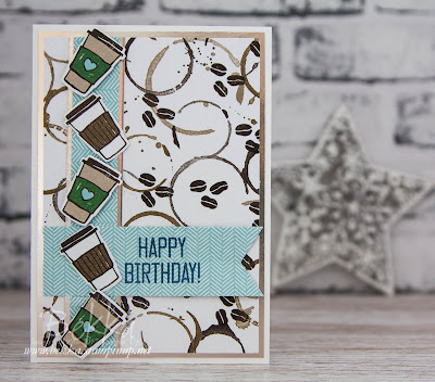 Coffee Lover's Birthday Card featuring the Coffee break Suite from Stampin' Up! UK - purchase it here