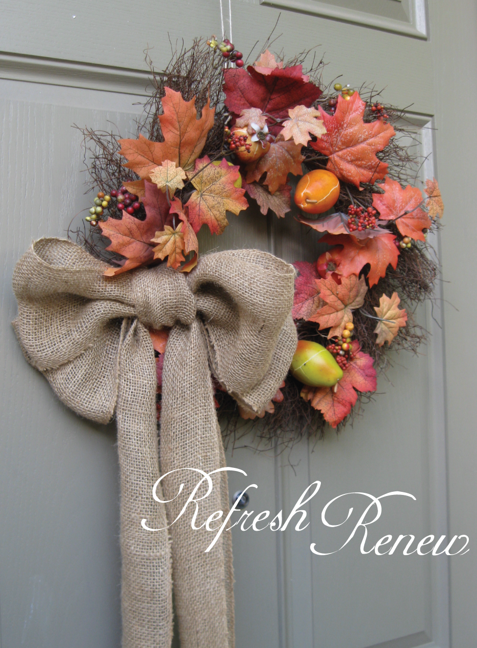 Refresh Renew Easy Burlap Bow Tutorial