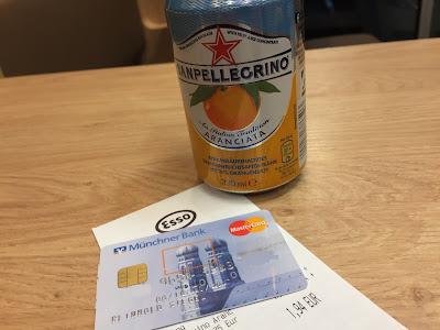 Dose Limonade Kreditkarte Beleg