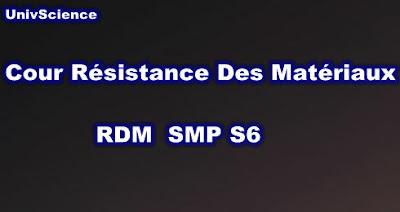 Cours Résistance Des Matériaux SMP S6 PDF