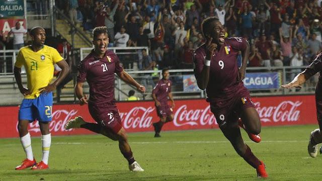 Contundente victoria de la Vinotinto ante Brasil 2x0 en Sudamericano Sub 20 Chile 2019.