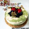 Matcha Strawberry Tofu Cheesecake *non-bake*
