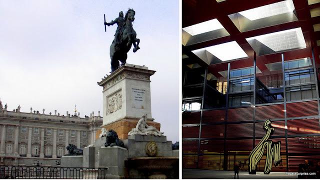 Madri, Espanha, Praça do Oriente e Museu Reina Sofia