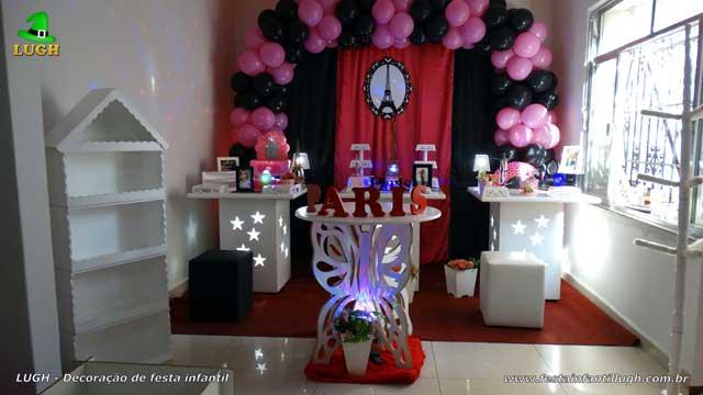 Decoração infantil Paris para festa de aniversário de meninas