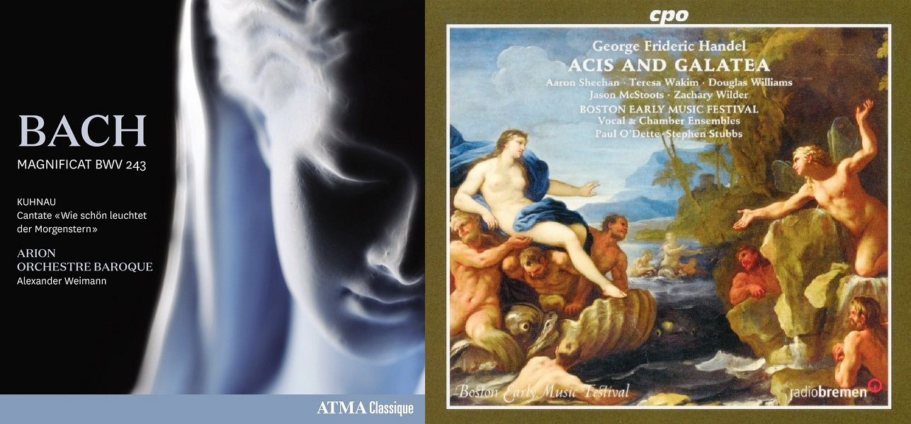 Zachary Wilder on disc: Johann Sebastian Bach's MAGNIFICAT (ATMA Classique ACD22727) and Georg Friedrich Händel's ACIS AND GALATEA (cpo 777 877-2)