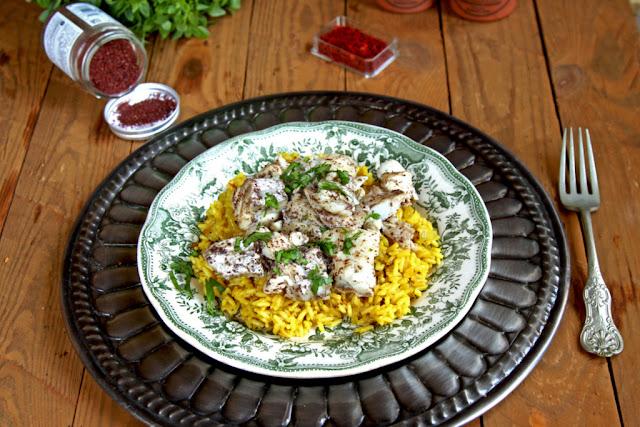 Ryba z szafranowym ryżem