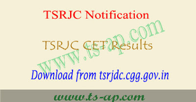 TSRJC Results 2019 manabadi, counselling dates