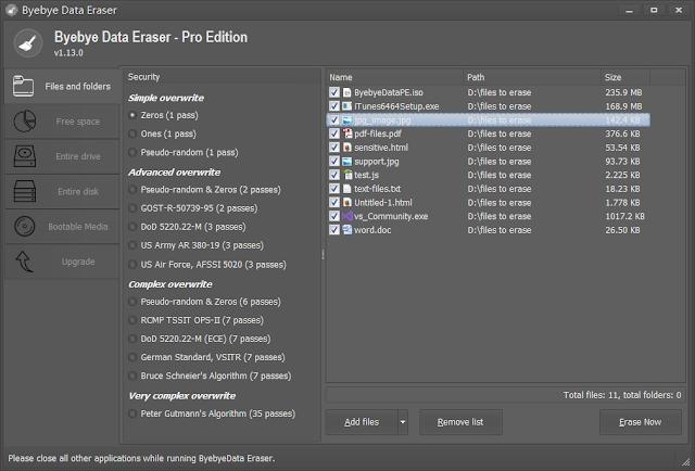 Byebye Data Eraser Pro