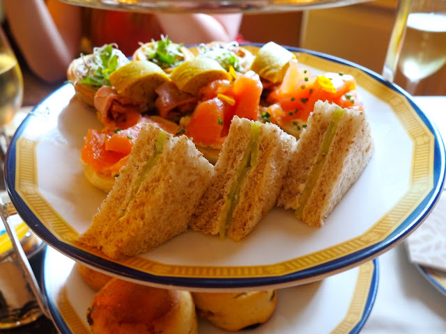 Savoury tea sandwiches layer of the Tiffany's Afternoon Tea at The Peninsula, Hong Kong