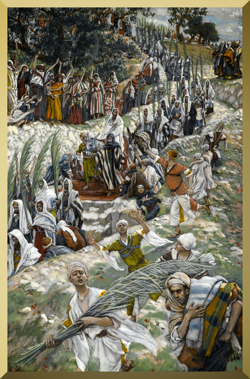 """The Procession on the Mount of Olives"" -- by James Tissot"