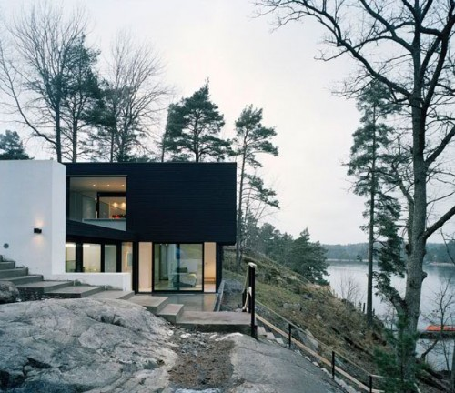 Two Hillside Cabins In The Trees By Feldman Architecture: Home Design Ideas And Inspirations: Modern Hillside House