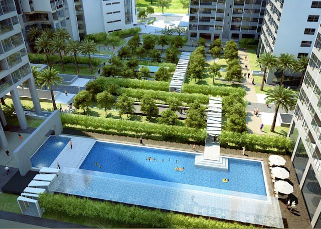 Bể bơi dự án chung cư Eco Lake View
