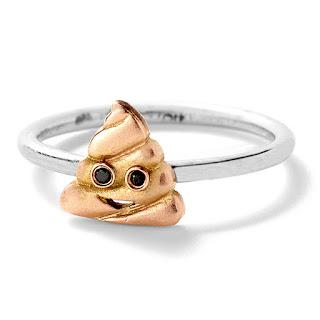 Alison Lou - Sh!t Ring - Emoji Jewellery