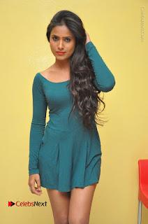 Telugu Actress Prasanthi Stills in Green Short Dress at Swachh Hyderabad Cricket Press Meet  0035.JPG