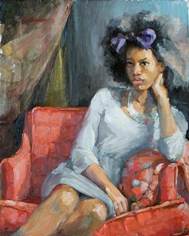 В экспрессионистской манере. Krystal Brown