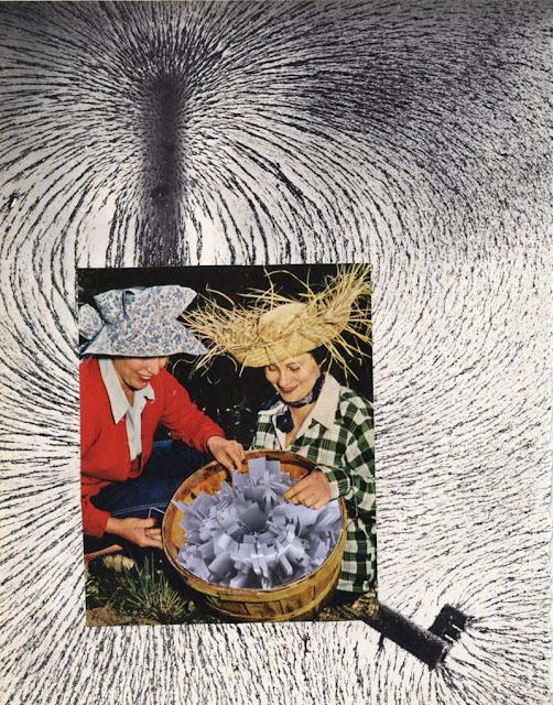 hand cut paper collage made fro Los Dias Contados
