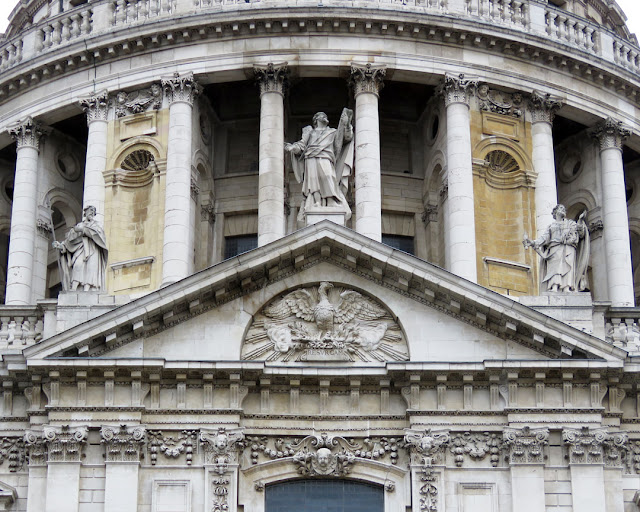 Detail of the South transept, St Paul's Cathedral by Christopher Wren, Ludgate Hill, City of London