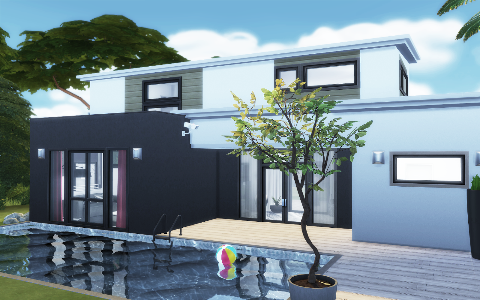 1359780 besides The Sims 4 Gallery Spotlight Houses 2 further Barons Mansion V2 By Tomostergreen At Tsr as well The Sims 4 Contemporary Modern House additionally High Tides No Problem For This Modern Beach House On Stilts. on sims 2 modern houses