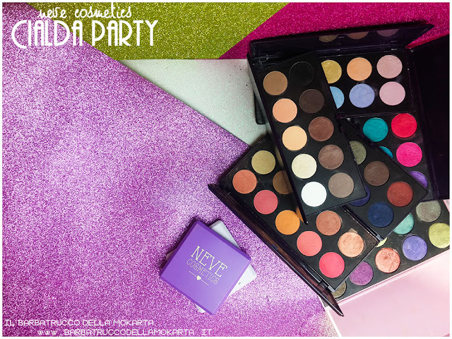 palette  neve cosmetics cialda party review recensione makeup
