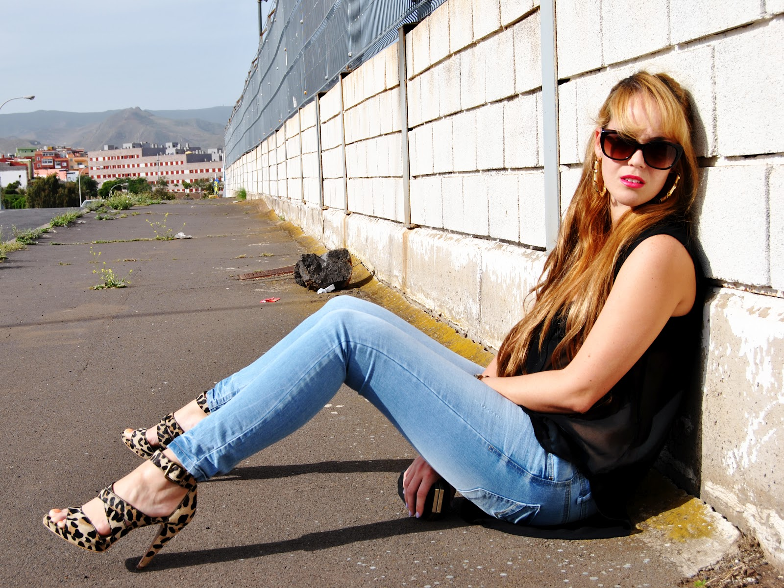 snb blog, leopard shoes, jeans, looks con jeans, print animal, nery hdez