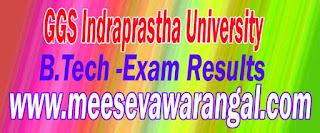 GGS Indraprastha University B.Tech MET-Ist Sem Re-appear Exam Results