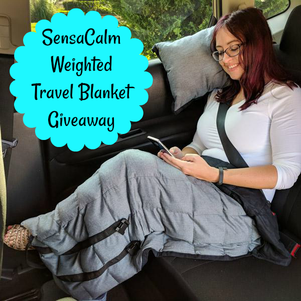 SensaCalm Weighted Travel Blanket Giveaway