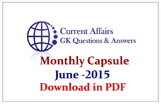 Monthly Current Affairs and GK Capsule Download in PDF