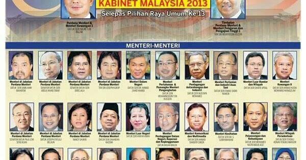 Aku Anak Pahang Senarai Penuh Menteri Kabinet Malaysia 2013