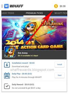 Cara Dapat Uang Dari Android Whaff Rewards